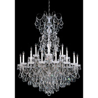 Schonbek New Orleans 24 Light Pendant in Black Pearl and Handcut Crystal 3662-49H
