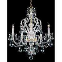 Schonbek Novielle 5 Light Chandelier in Polished Gold and Crystal Swarovski Elements Trim NV3905N-20S