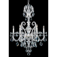 Schonbek Novielle 6 Light Chandelier in Polished Silver and Clear Spectra Crystal Trim NV3906N-40A