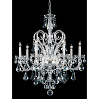 Schonbek Novielle 7 Light Chandelier in Polished Silver and Crystal Swarovski Elements Trim NV3907N-40S