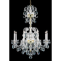 Schonbek Novielle 8 Light Chandelier in Polished Gold and Clear Spectra Crystal Trim NV3908N-20A