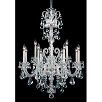 Schonbek Novielle 12 Light Chandelier in Polished Silver and Crystal Swarovski Elements Trim NV3912N-40S
