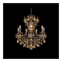 Schonbek New Orleans 7 Light Chandelier in Heirloom Bronze and Golden Teak Swarovski Elements Colors Trim 3656-76TK