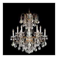 Schonbek New Orleans 10 Light Chandelier in French Gold and Silver Shade Swarovski Elements Colors Trim 3657-26SH