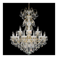 Schonbek New Orleans 18 Light Chandelier in Gold and Clear Heritage Handcut Trim 3660-20H