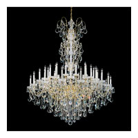 Schonbek New Orleans 45 Light Chandelier in Gold and Clear Heritage Handcut Trim 3663-20H