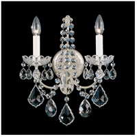 Schonbek 3651-48H New Orleans 2 Light 6 inch Antique Silver Wall Sconce Wall Light in Clear Heritage