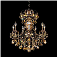 Schonbek 3656-76TK New Orleans 7 Light 24 inch Heirloom Bronze Chandelier Ceiling Light in Golden Teak