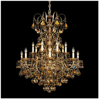 Schonbek 3658-22TK New Orleans 14 Light Heirloom Gold Chandelier Ceiling Light in Golden Teak