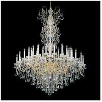 Schonbek 3663E-26H New Orleans 45 Light 60 inch French Gold Chandelier Ceiling Light