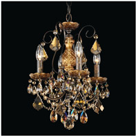 New Orleans 4 Light 12 inch Heirloom Bronze Chandelier Ceiling Light in Golden Teak