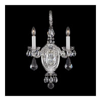 Schonbek Novielle 2 Light Wall Sconce in Polished Silver and Crystal Swarovski Elements Trim NV3902N-40S