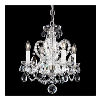 Schonbek Novielle 4 Light Chandelier in Polished Silver and Clear Spectra Crystal Trim NV3904N-40A