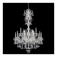 Schonbek Novielle 20 Light Chandelier in Polished Silver and Crystal Swarovski Elements Trim NV3915N-40S