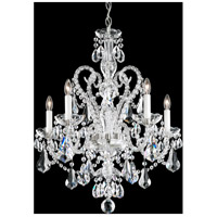Schonbek NV3905N-40S Novielle 5 Light 22 inch Silver Chandelier Ceiling Light in Novielle Swarovski