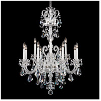 Schonbek NV3912N-40A Novielle 12 Light 32 inch Silver Chandelier Ceiling Light in Clear Spectra