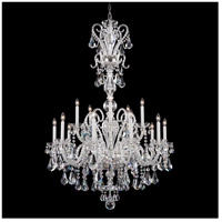 Novielle 20 Light 35 inch Silver Chandelier Ceiling Light in Clear Swarovski