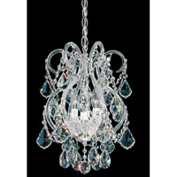 Olde World 4 Light 11 inch Silver Chandelier Ceiling Light in Clear Swarovski Elements, Polished Silver