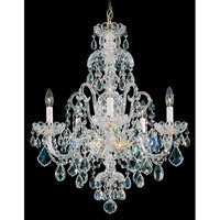 Schonbek Olde World 5 Light Chandelier in Gold and Crystal Swarovski Elements Trim 6810-20S photo thumbnail