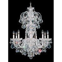 Olde World 9 Light 27 inch Silver Chandelier Ceiling Light in Clear Swarovski Elements, Polished Silver