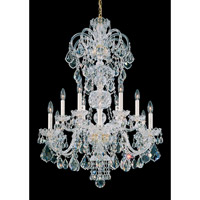 Schonbek Olde World 12 Light Chandelier in Gold and Crystal Swarovski Elements Trim 6813-20S