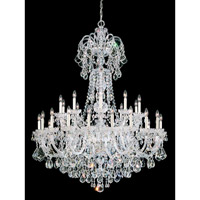Olde World 35 Light 48 inch Silver Chandelier Ceiling Light in Clear Swarovski Elements, Polished Silver