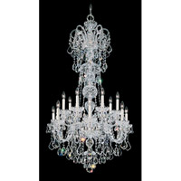 Schonbek Olde World 14 Light Chandelier in Silver and Crystal Swarovski Elements Trim 6817-40S
