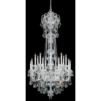 Olde World 23 Light 36 inch Silver Chandelier Ceiling Light in Clear Swarovski Elements, Polished Silver