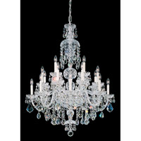 Schonbek Olde World 25 Light Chandelier in Silver and Crystal Swarovski Elements Trim 6860-40S