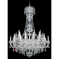 Olde World 45 Light 60 inch Silver Chandelier Ceiling Light in Clear Swarovski Elements, Polished Silver