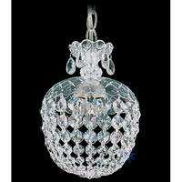 Schonbek Olde World 3 Light Pendant in Silver and Crystal Swarovski Elements Trim 6863-40S
