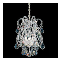 Schonbek Olde World 4 Light Chandelier in Silver and Crystal Swarovski Elements Trim 6809-40S