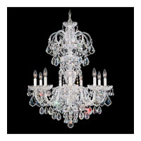 Schonbek Olde World 9 Light Chandelier in Silver and Crystal Swarovski Elements Trim 6812-40S