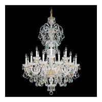 Schonbek Olde World 23 Light Chandelier in Gold and Crystal Swarovski Elements Trim 6815-20S
