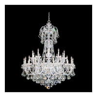 Schonbek Olde World 35 Light Chandelier in Silver and Crystal Swarovski Elements Trim 6816-40S