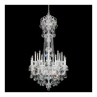 Schonbek Olde World 23 Light Chandelier in Silver and Crystal Swarovski Elements Trim 6818-40S