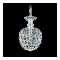Schonbek Olde World 1 Light Pendant in Silver and Crystal Swarovski Elements Trim 6862-40S