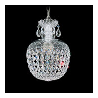 Schonbek Olde World 3 Light Pendant in Silver and Crystal Swarovski Elements Trim 6864-40S