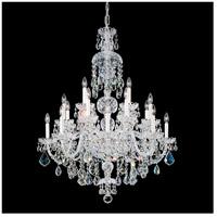 Schonbek 6860-40S Olde World 25 Light 36 inch Silver Chandelier Ceiling Light in Polished Silver Clear Swarovski