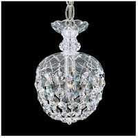Olde World 1 Light 6 inch Silver Pendant Ceiling Light in Polished Silver, Clear Swarovski
