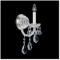 Olde World 1 Light 8 inch Silver Wall Sconce Wall Light in Clear Swarovski