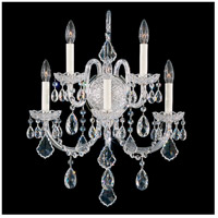 Olde World 5 Light 10 inch Silver Wall Sconce Wall Light in Clear Swarovski
