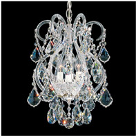 Olde World 4 Light 11 inch Silver Chandelier Ceiling Light in Clear Swarovski