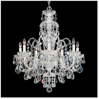 Olde World 7 Light 25 inch Silver Chandelier Ceiling Light in Clear Swarovski