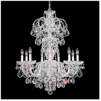 Olde World 9 Light 27 inch Silver Chandelier Ceiling Light in Clear Swarovski