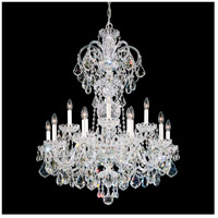 Olde World 15 Light 32 inch Silver Chandelier Ceiling Light in Clear Swarovski