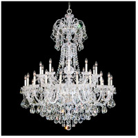 Olde World 35 Light 48 inch Silver Chandelier Ceiling Light in Clear Swarovski