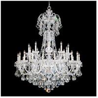 Schonbek 6816-40S Olde World 35 Light 48 inch Silver Chandelier Ceiling Light in Clear Swarovski