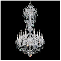 Olde World 14 Light 32 inch Silver Chandelier Ceiling Light in Clear Swarovski