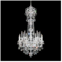 Olde World 23 Light 36 inch Silver Chandelier Ceiling Light in Clear Swarovski